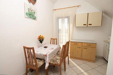 Novigrad, Dining room u smještaju tipa apartment, dopusteni kucni ljubimci i WIFI.