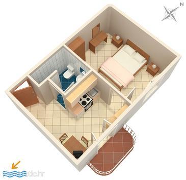 Apartment A-707-c - Apartments Sumartin (Brač) - 707