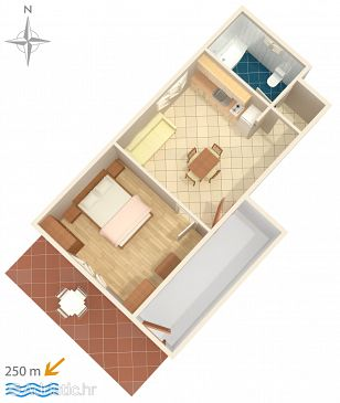 Apartment A-7117-b - Apartments Tribunj (Vodice) - 7117