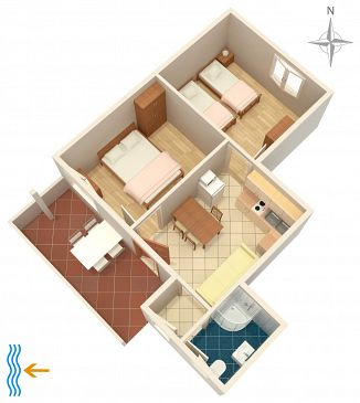 Apartment A-7126-a - Apartments and Rooms Umag (Umag) - 7126