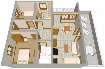 Apartament A-715-a - Apartamenty Povlja (Brač) - 715