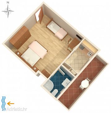Studio flat AS-7216-a - Apartments and Rooms Rovinj (Rovinj) - 7216
