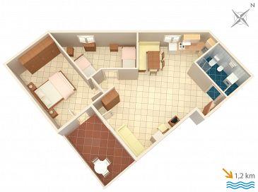 Apartament A-7240-a - Apartamenty Ližnjan (Medulin) - 7240