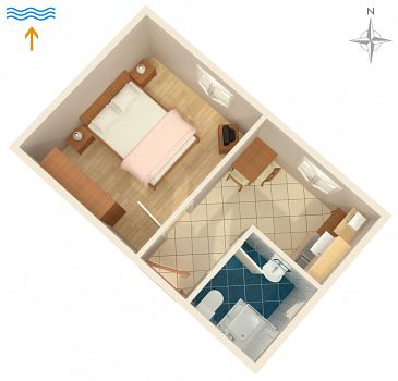Apartament A-7257-b - Apartamenty Valbandon (Fažana) - 7257
