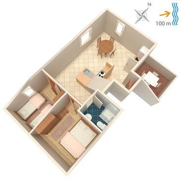 Apartament A-739-d - Apartamenty Postira (Brač) - 739
