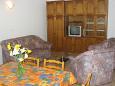 Pula, Living room u smještaju tipa apartment, dostupna klima i WIFI.