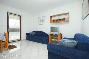 Rabac, Living room u smještaju tipa apartment, dostupna klima, dopusteni kucni ljubimci i WIFI.