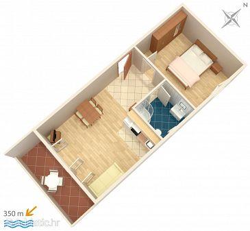 Apartment A-7482-a - Apartments Mali Rat (Omiš) - 7482