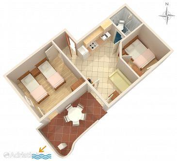 Apartment A-7505-c - Apartments Povljana (Pag) - 7505