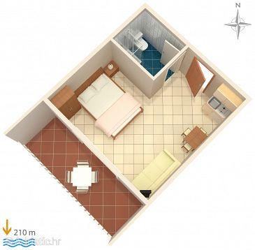 Studio flat AS-7532-a - Apartments Duće (Omiš) - 7532