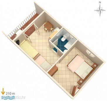 Studio flat AS-7532-f - Apartments Duće (Omiš) - 7532