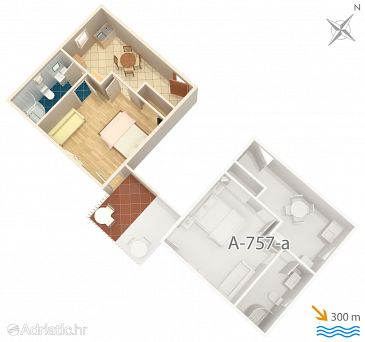 Apartment A-757-b - Apartments and Rooms Sumartin (Brač) - 757
