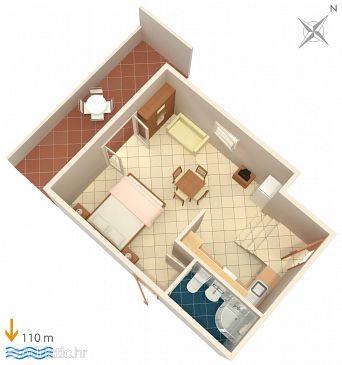 Studio flat AS-7574-b - Apartments Bušinci (Čiovo) - 7574