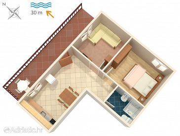 Apartment A-7607-a - Apartments Okrug Donji (Čiovo) - 7607