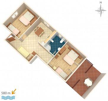 Apartament A-7639-b - Kwatery Novigrad (Novigrad) - 7639