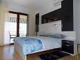 Mošćenice, Bedroom u smještaju tipa studio-apartment, dostupna klima, dopusteni kucni ljubimci i WIFI.