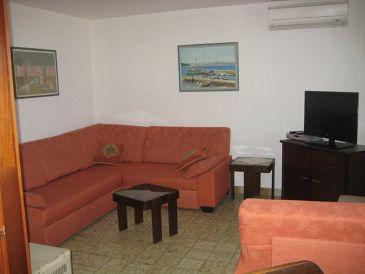 Maslinica, Living room u smještaju tipa apartment, dostupna klima, dopusteni kucni ljubimci i WIFI.