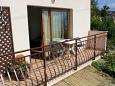 Lovran, Balcony u smještaju tipa apartment, s pogledom na more, dopusteni kucni ljubimci i WIFI.