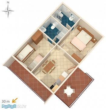 Apartment A-782-b - Apartments Stomorska (Šolta) - 782