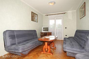 Opatija, Living room u smještaju tipa apartment, dostupna klima i WIFI.