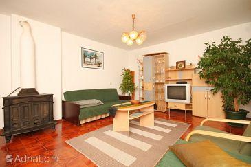 Mali Lošinj, Living room u smještaju tipa apartment, dopusteni kucni ljubimci.