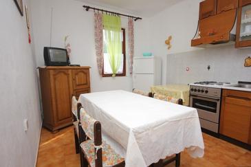 Mala Lamjana, Dining room u smještaju tipa apartment, dostupna klima i WIFI.