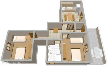 Apartment A-833-a - Apartments Kali (Ugljan) - 833
