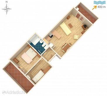 Studio flat AS-8424-b - Apartments Ždrelac (Pašman) - 8424