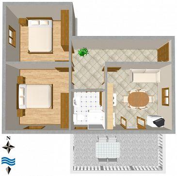 Apartament A-846-b - Apartamenty Ugljan (Ugljan) - 846