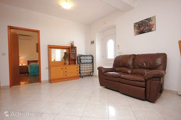 Sutomišćica, Living room u smještaju tipa apartment, dopusteni kucni ljubimci i WIFI.