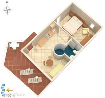 Studio flat AS-8536-a - Apartments Podaca (Makarska) - 8536