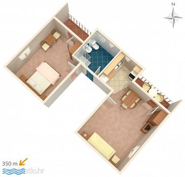 Apartament A-859-a - Apartamenty Biograd na Moru (Biograd) - 859