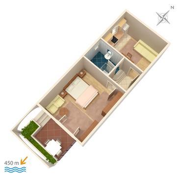 Apartament A-860-c - Apartamenty Biograd na Moru (Biograd) - 860