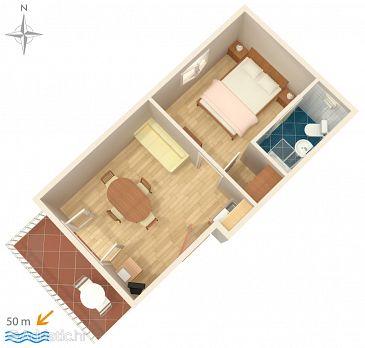 Apartment A-8615-a - Apartments Komarna (Ušće Neretve) - 8615