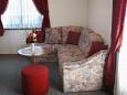 Povlja, Living room u smještaju tipa apartment, dostupna klima i WIFI.