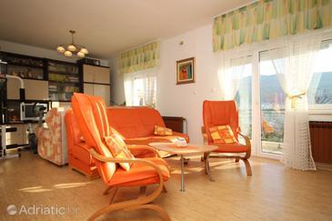 Stobreč, Living room u smještaju tipa apartment, dostupna klima i WIFI.