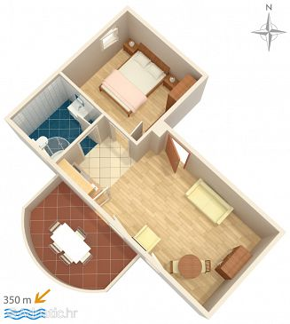 Apartment A-8660-a - Apartments Vinišće (Trogir) - 8660