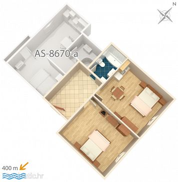 Apartment A-8670-a - Apartments Split (Split) - 8670