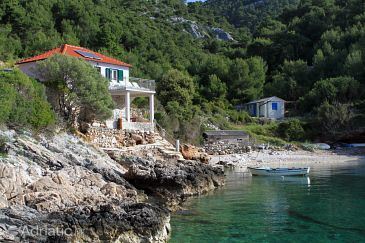 Property Uvala Prisnjak (Hvar) - Accommodation 8763 - Vacation Rentals near sea with pebble beach.