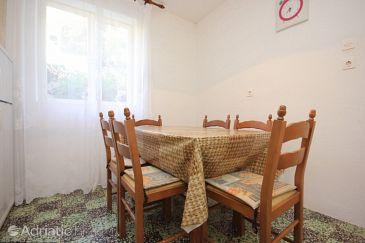 Uvala Parja, Dining room u smještaju tipa house, dopusteni kucni ljubimci i WIFI.