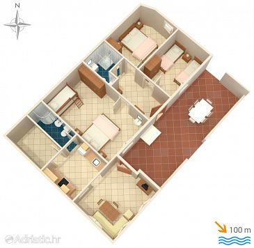 Apartment A-8899-a - Apartments Brgujac (Vis) - 8899