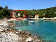 Property Mala Raskovica (Hvar) - Accommodation 8951 - Apartments near sea with pebble beach.