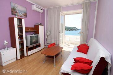 Zaton Mali, Living room u smještaju tipa apartment, dostupna klima, dopusteni kucni ljubimci i WIFI.