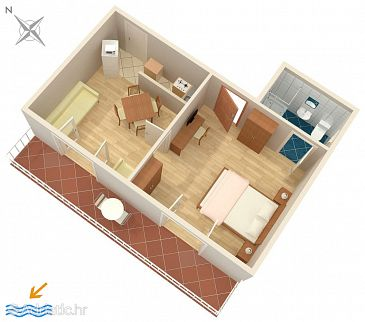 Apartment A-9019-a - Apartments Soline (Dubrovnik) - 9019