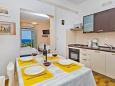 Mlini, Dining room u smještaju tipa studio-apartment, dostupna klima i WIFI.