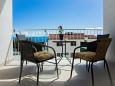Rastići, Terrace u smještaju tipa apartment, s pogledom na more i WIFI.