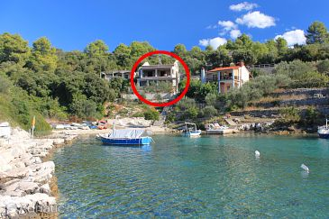 Property Uvala Stratinčica (Korčula) - Accommodation 9264 - Apartments near sea with rocky beach.