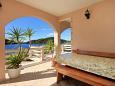 Karbuni, Terrace u smještaju tipa apartment, s pogledom na more i WIFI.