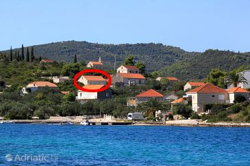 Property Lumbarda (Korčula) - Accommodation 9333 - Apartments with pebble beach.
