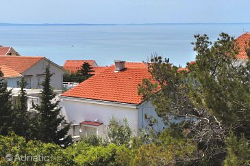 Property Novalja (Pag) - Accommodation 9340 - Apartments with pebble beach.